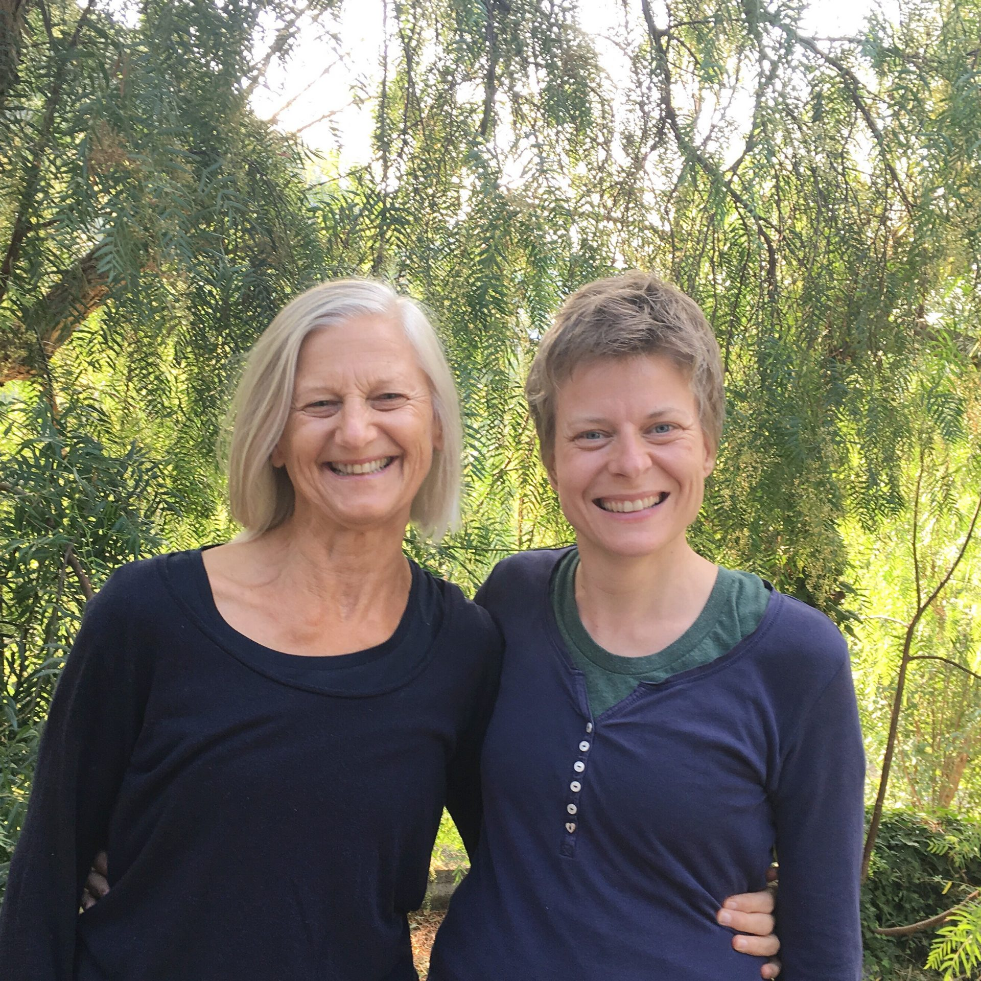 Petra with her teacher Pixie Lillas in Italy