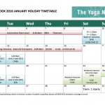 Holiday Timetable – January 2016